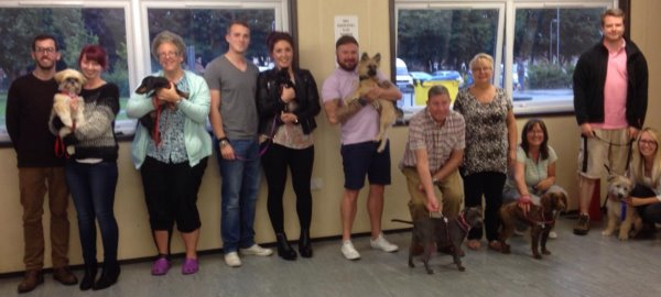 A great group of handlers and their super pups August 2015