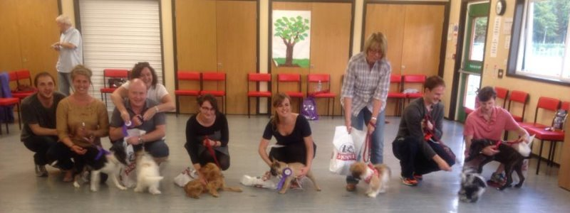 Graduation from Puppy Foundation Obedience class August 2015