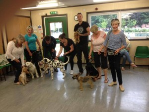 Latest group of puppies (and owners) who successfully completed the Kennel Club Puppy Foundation course.